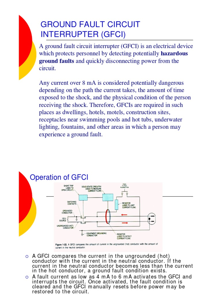 Gfcilockouttagout W9 Safety Electricity An Overview Of Gfci Groundfault Circuit Interrupter Eep