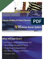 Exchange Server 2007 Overview
