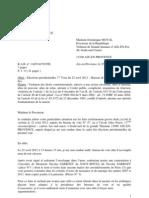 Plainte élections 2012 - Etoile Marquet
