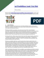Contoh Skripsi Pendidikan Anak Usia Dini