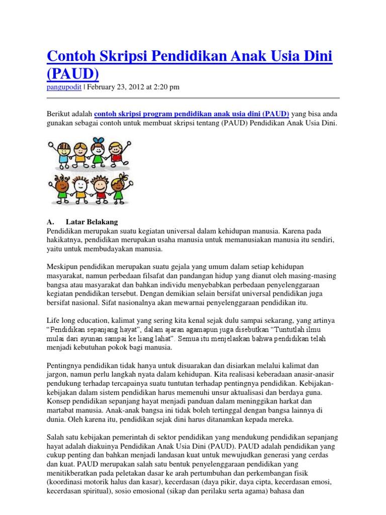 Contoh Proposal Penelitian Kuantitatif Pendidikan Anak Usia Dini Pdf Ilustrasi
