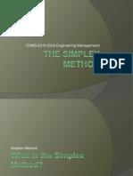 Simplex Method Final