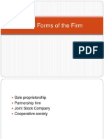 Legal Forms of the Firm