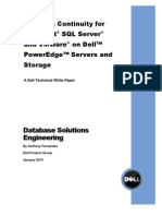 Business Continuity for SQL and VMware on PE