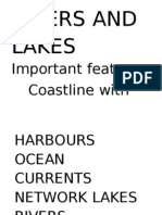RIVERS and LAKES Important Features
