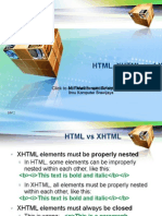 HTML, Xhtml and XML