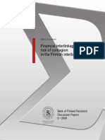 Financial Inter Linkages and Risk of Contagion in the Finnish Interbank Market
