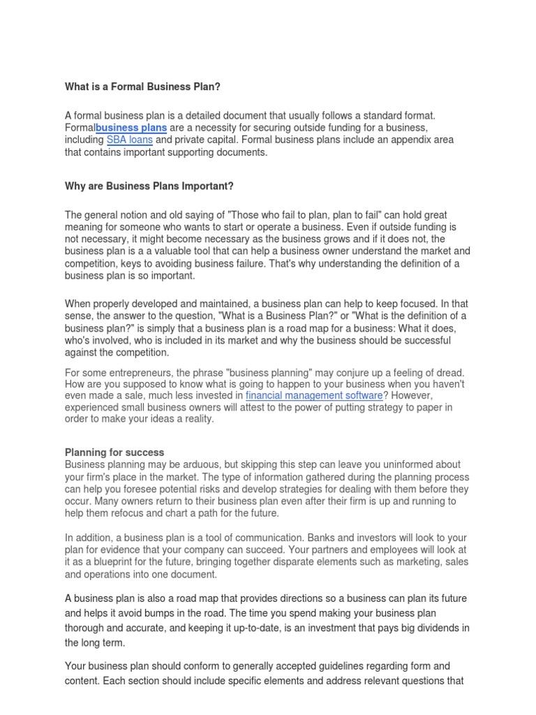 business plan income statement cash flow statement