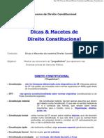 DIREITO CONSTITUCIONAL macetes
