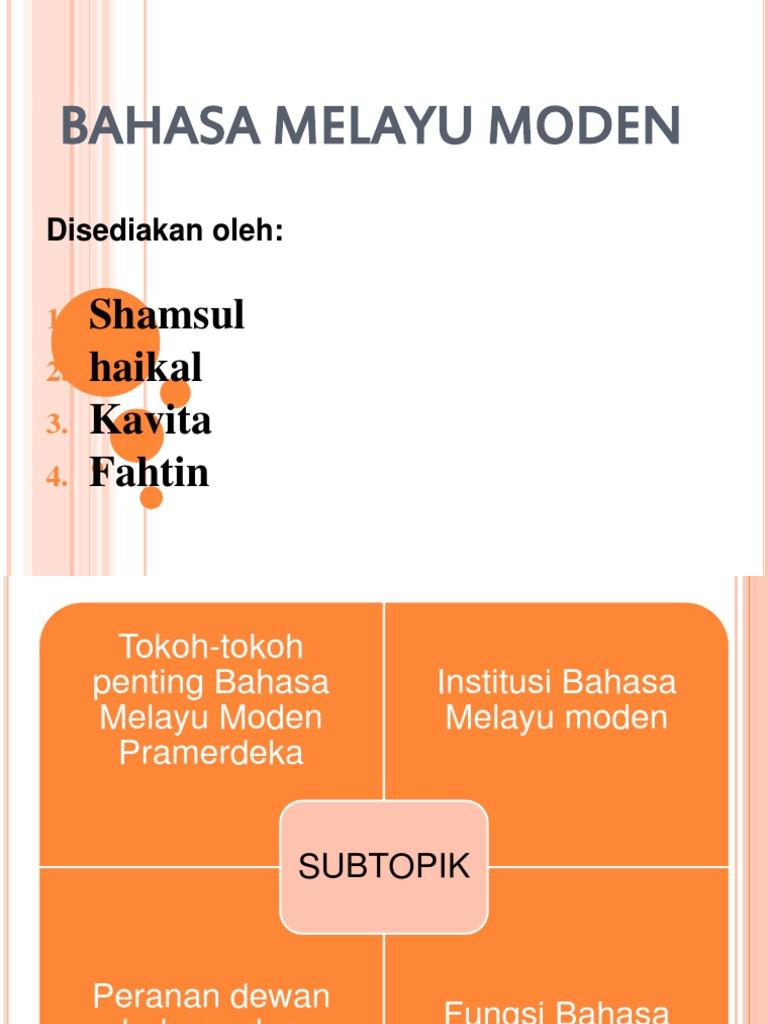 Peta Minda Bahasa Melayu Moden