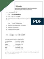 Analyse Van Lidocaine