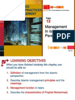Topic 12 Mgmt in Islamic Perspective
