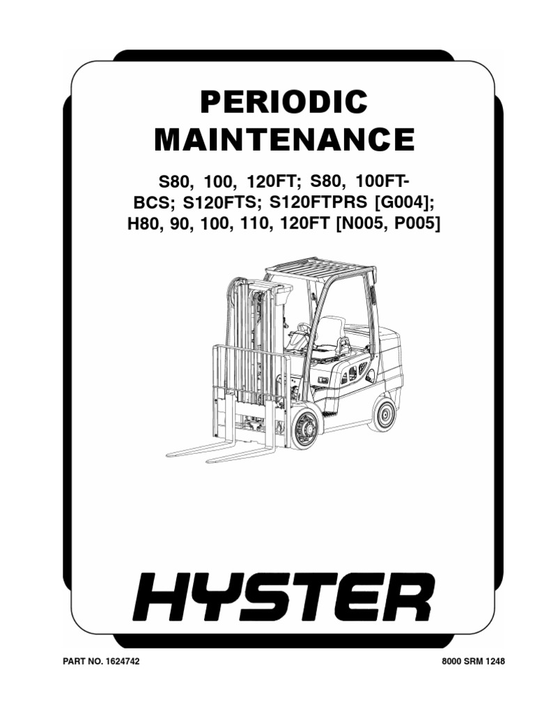 Hyster 110FT Periodic Maintenance | Internal Combustion
