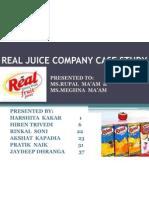 Real Juice Company Case Study