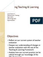 Improving Teaching & Learning May 2012