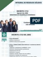 Decreto 1713 de 2002 Gestión Integral de Residuos Sólidos