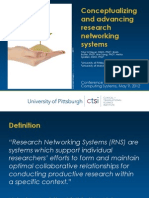 Conceptualizing and advancing research networking systems