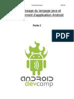 Apprentissage du langage java et développent Android partie 2