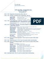 Programme EIT ICT Labs Italy Inauguration April18