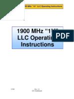1900 MHz (1U) LLC Operating Instructions V1.0