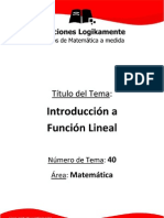 01 Funcion Lineal