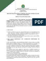 Edital Prof Temp Caxias 2012