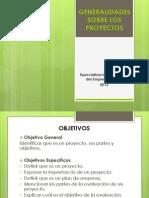 General Ida Des Sobre Los Proyectos