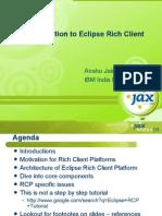 Intro oEclipseRCP Jax India Anshu Jain