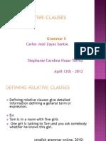 Relative Clauses Tec III