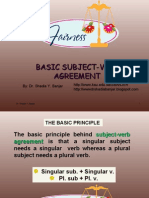 Basic Subject-Verb Agreement, By Dr. Shadia
