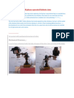 Cell Phone Operated Robotic Arm