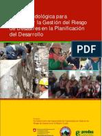 Guía metodológica para incorporar la gestión del riesgo de desastres en la planificación del desarrollo