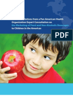 PAHO EXPERTS FOOD MARKETING TO CHILDREN