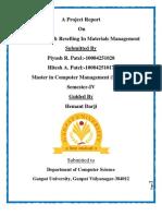 A Project Report Materials Manegement Piyush Hitesh