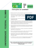 Vestibular UFF 2010 - Prova Area IV