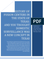 The History of Fusion Centers in the State of Texas