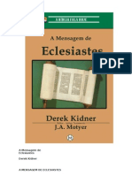 6893151 a Mensagem de Eclesiastes Derek Kidner