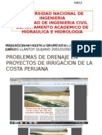 Problemas de Drenaje en Proyectos de Irrigacion De