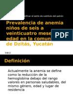 Prevalencia de anemia niños de seis a veinticuatro