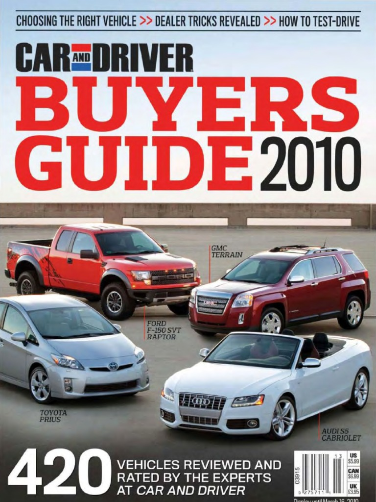 61db9c8aa6 Car and Driver Buyer s Guide 2010