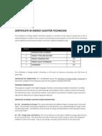 certificate in energy auditor technician