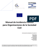 Manual de Incidencia Política para Organizaciones de la Sociedad Civil