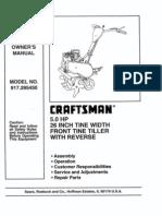 Tiller Owners Manual L1004049