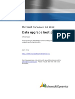 Microsoft Dynamics AX 2012 Data Upgrade Best Practices
