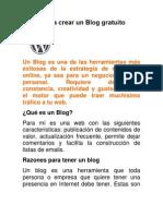 Pasos Para Crear Un Blog Gratuito