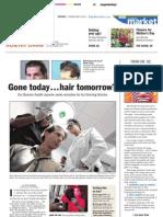 """Palm Beach Post Article """"Hair Tomorrow"""" feat. Dr. Alan J. Bauman"""