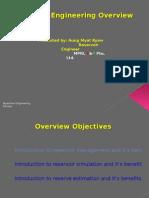 Reservoir Engineering Overview