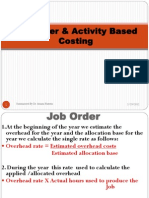 Job Order Activity Based Costing