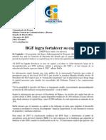 BGF logra fortalecer su capital