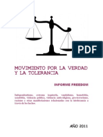 Informe Freedom Movimiento por la Verdad y la Tolerancia